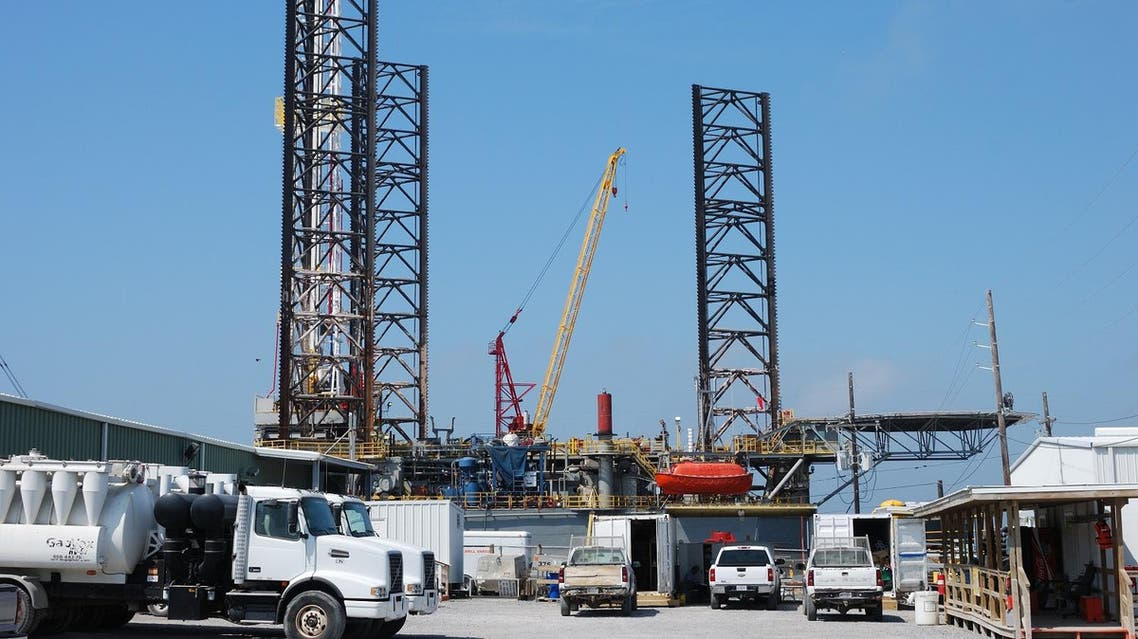 An offshore platform docked in Port Fourchon, Louisiana is seen on April 8, 2011. (AFP)