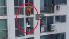 جنوبی کوریا: ساتویں منزل پر موجود لڑکی کو خودکشی سے کیسے بچایا گیا؟