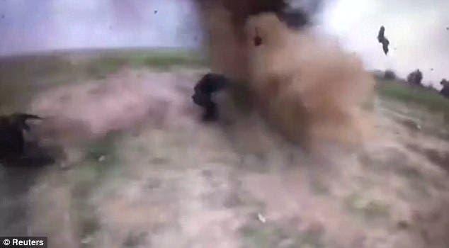 مشهد من الانفجار العنيف