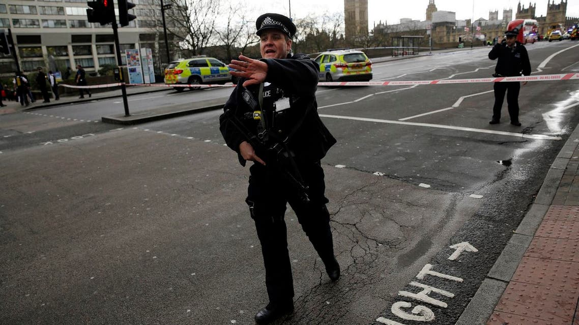 Police secure the area close to the Houses of Parliament in London, Wednesday, March 22, 2017. (AP)
