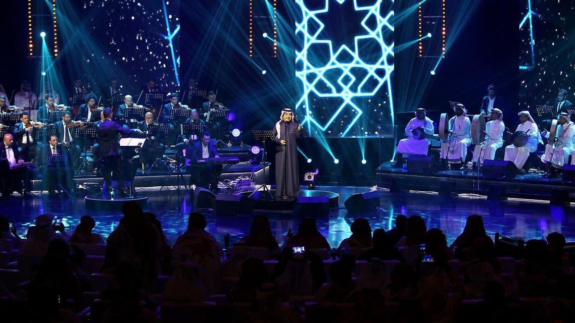 Saudi Arabian singer Rashed Al-Majed performs during a concert in Riyadh, Saudi Arabia, March 9, 2017. (Reuters)