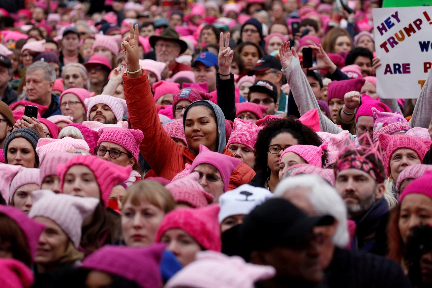 People gather for the Women's March in Washington US, January 21, 2017, the march was in protest of Trump presidency (Photo: Reuters/Shannon Stapleton)