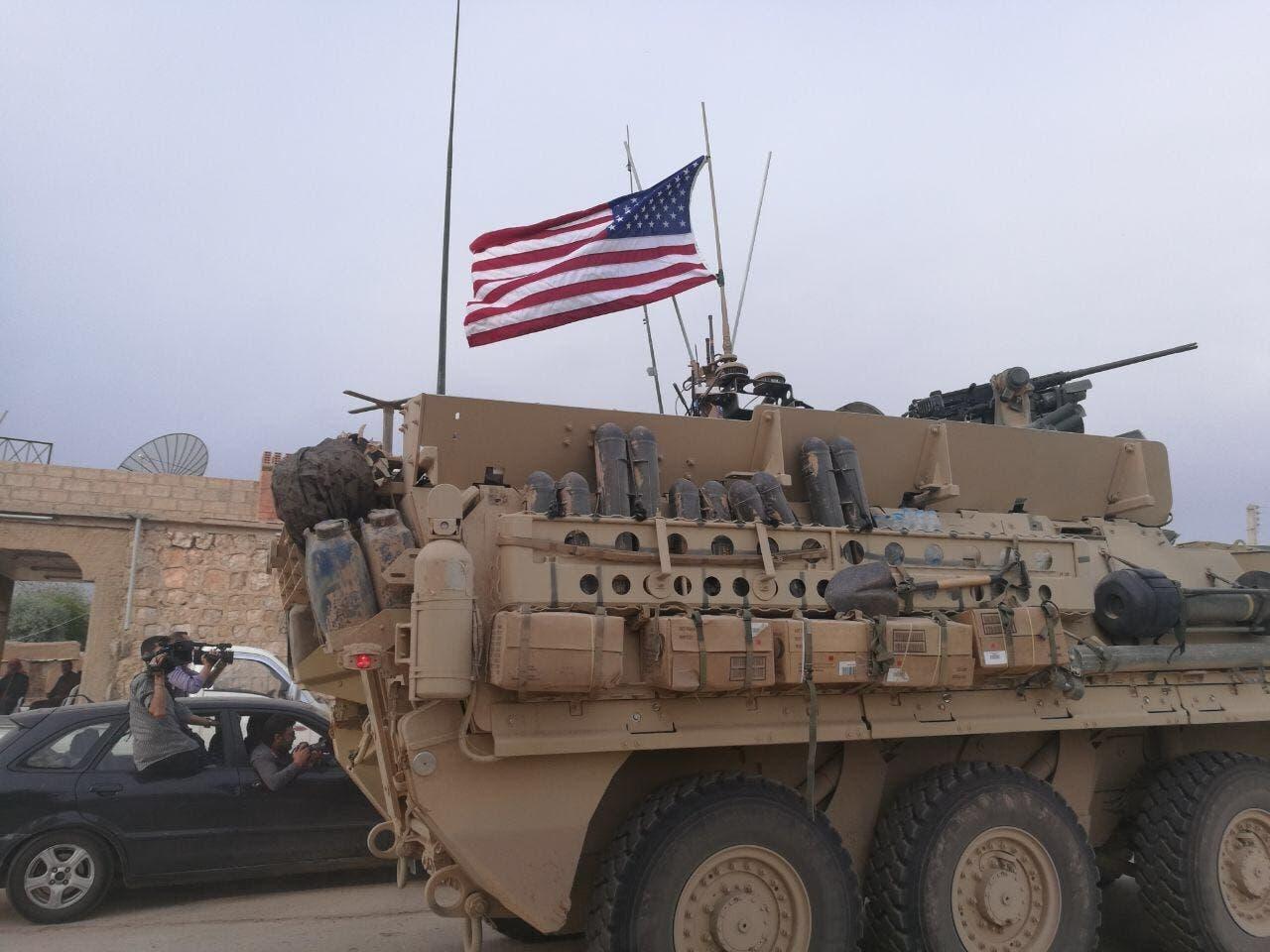 گشت زنی نیروهای آمریکا در مرز سوریه وترکیه