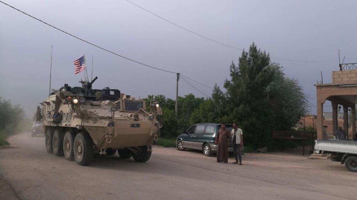 دوريات مصفحة أميركية على حدود سوريا وتركيا