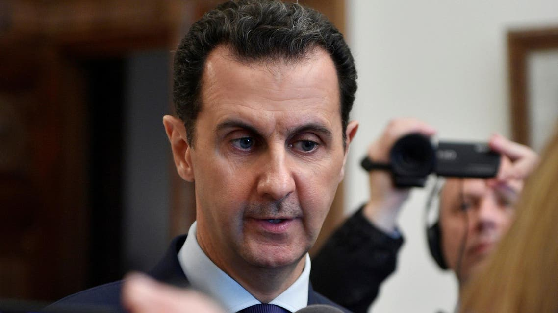 Syria's President Bashar al-Assad speaks to French journalists in Damascus, Syria, in this handout picture provided by SANA on January 9, 2017.