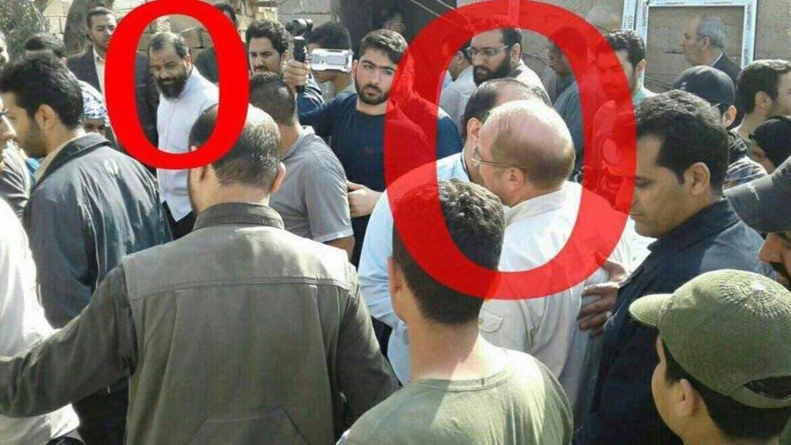 حسن كرد ميهن يرافق قاليباف خلال الحملة الانتخابية