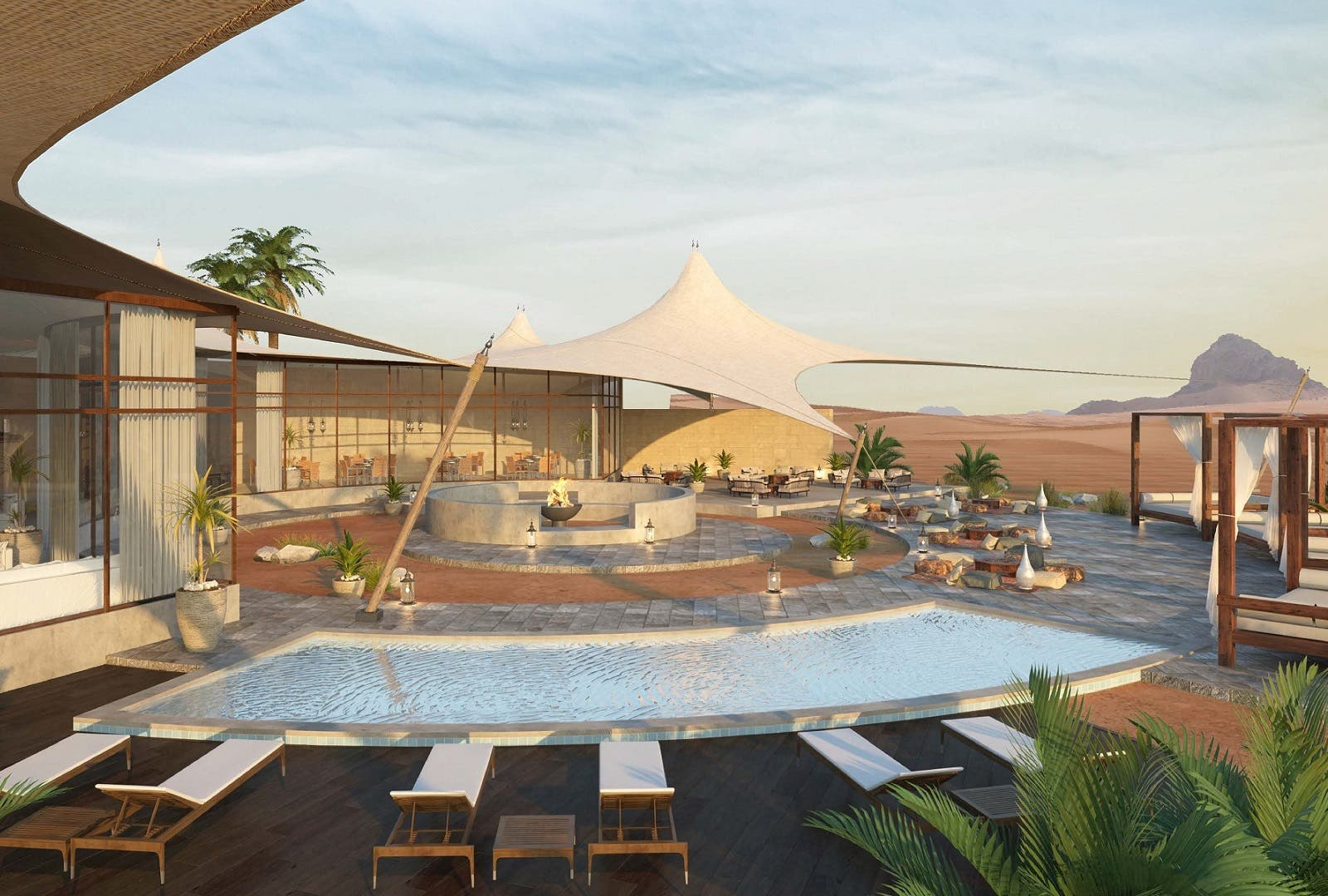 The resort will include 45 exclusively designed vacation villas, each with the luxury of its own decking and private swimming pool. (Supplied)