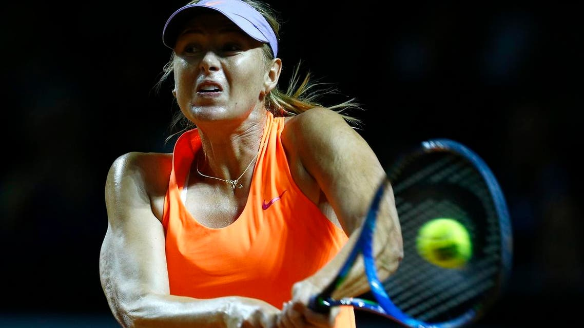 Five-time Grand Slam champion Msria Sharapova had been given a wild card to enter the Stuttgart event after losing her ranking because of a doping ban. (Reuters)