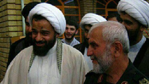 ميهن مع الجنرال حسين همداني الذي قتل في سوريا