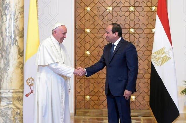 البابا والسيسي