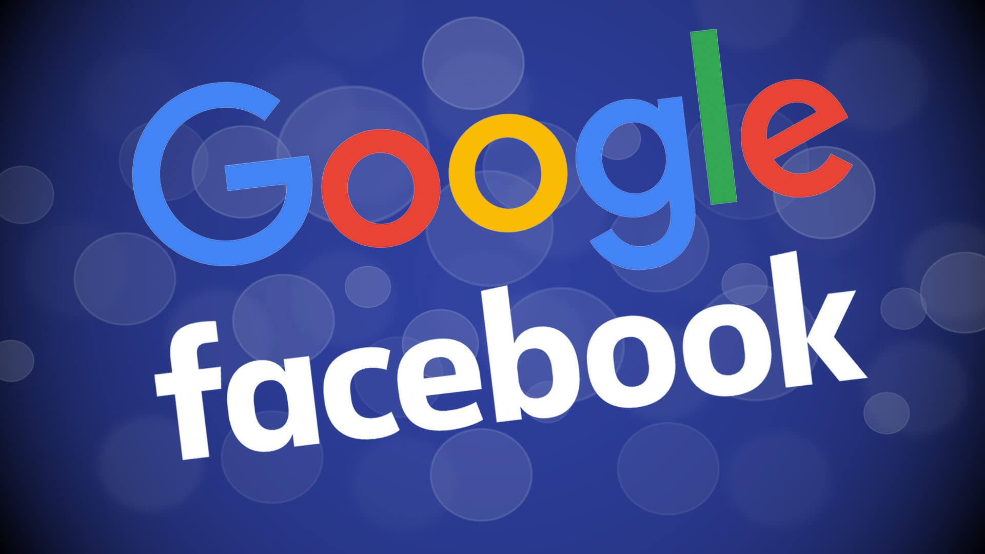 Google and Facebook logos. (Supplied)