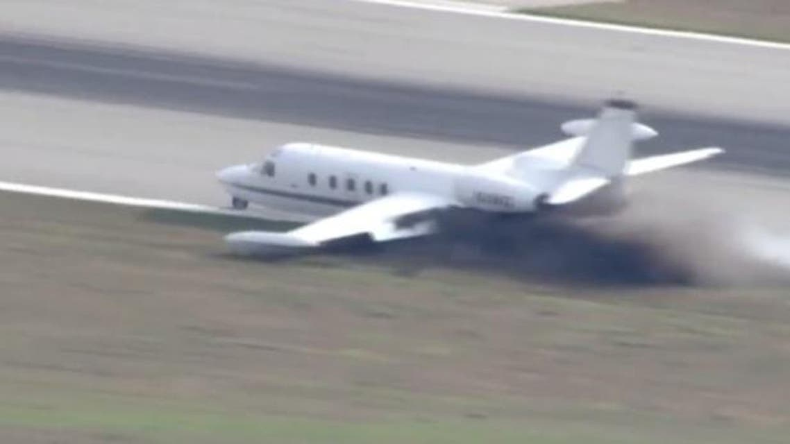 The pilot was forced to make the emergency landed after a wheel had fallen off the plane shortly after takeoff