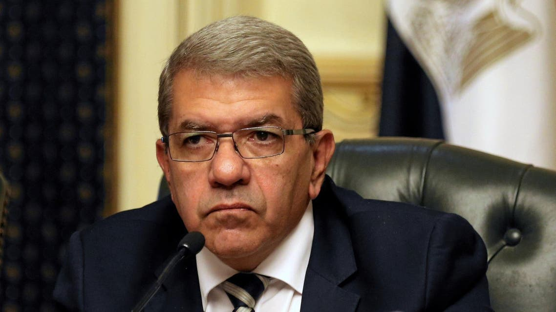 Finance Minister Amr El-Garhy at a news conference in Cairo, Egypt August 11, 2016. (Reuters)