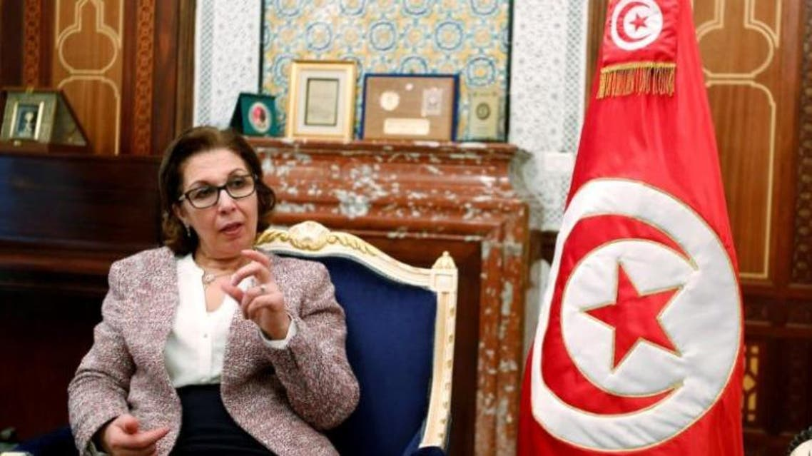 Tunisia's Finance Minister Lamia Zribi gestures as she speaks during an interview in Tunis, Tunisia, February 24, 2017. (Reuters)