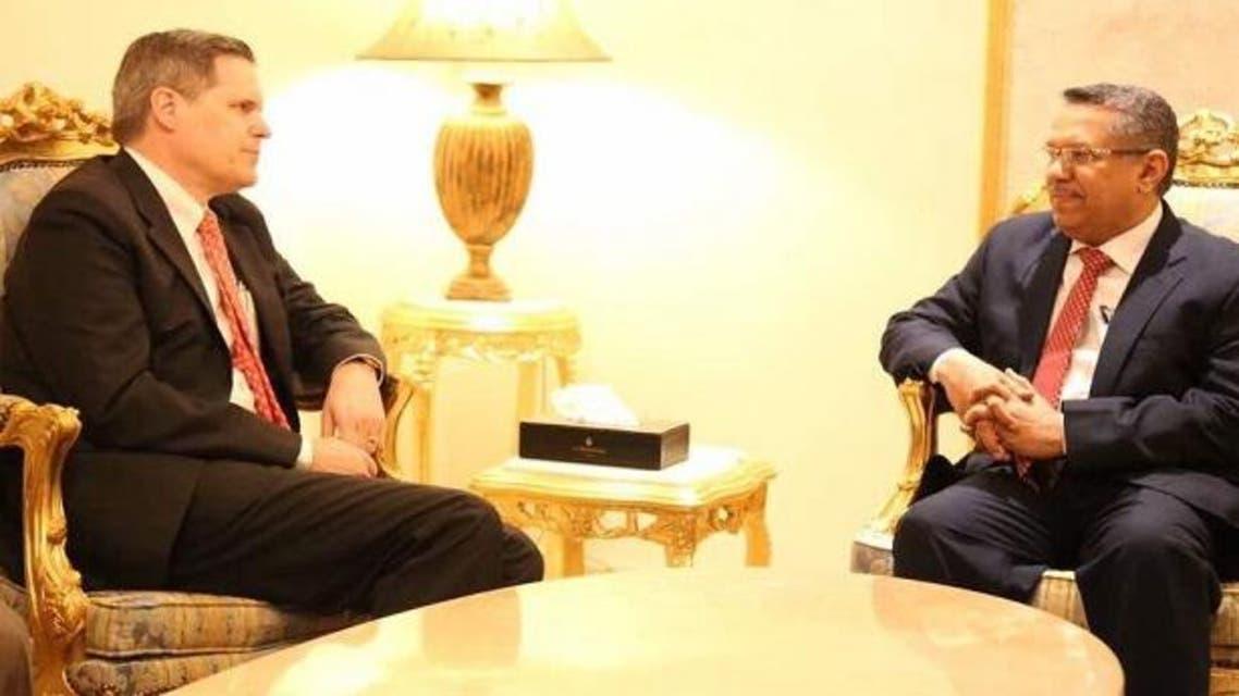 بن دغر والسفير الأميركي في اليمن