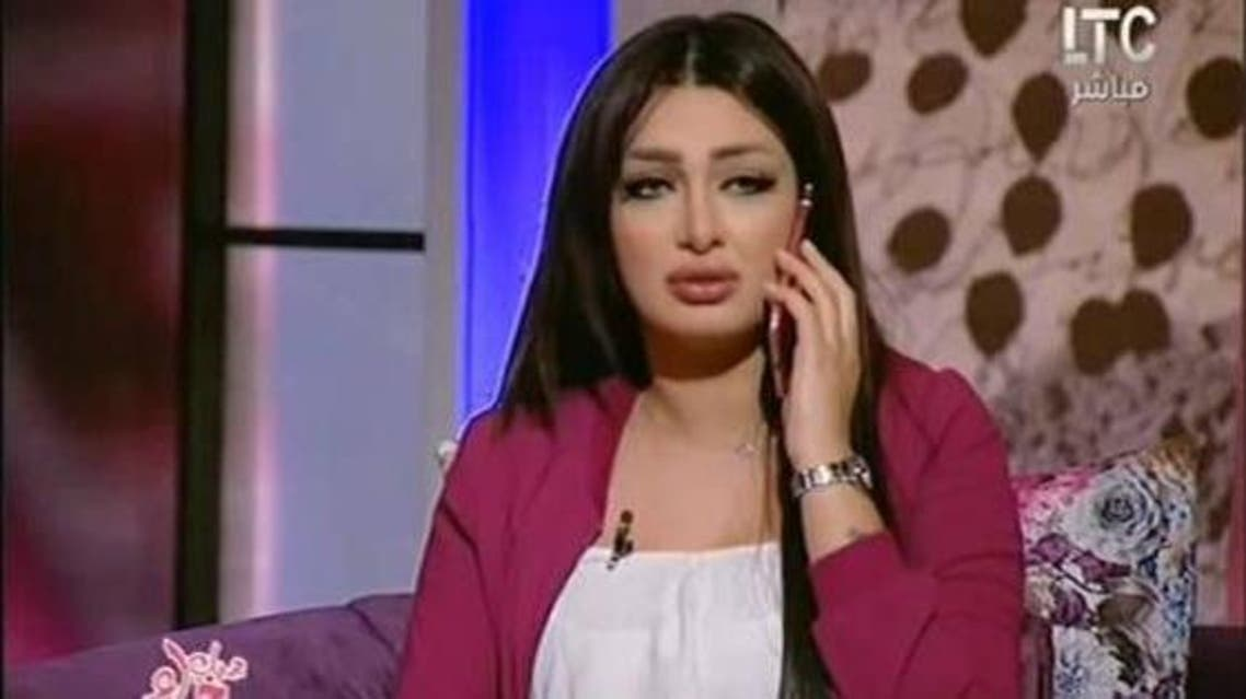 The presenter answered a phone call on air which appeared to be of her husband. (Screengrab)