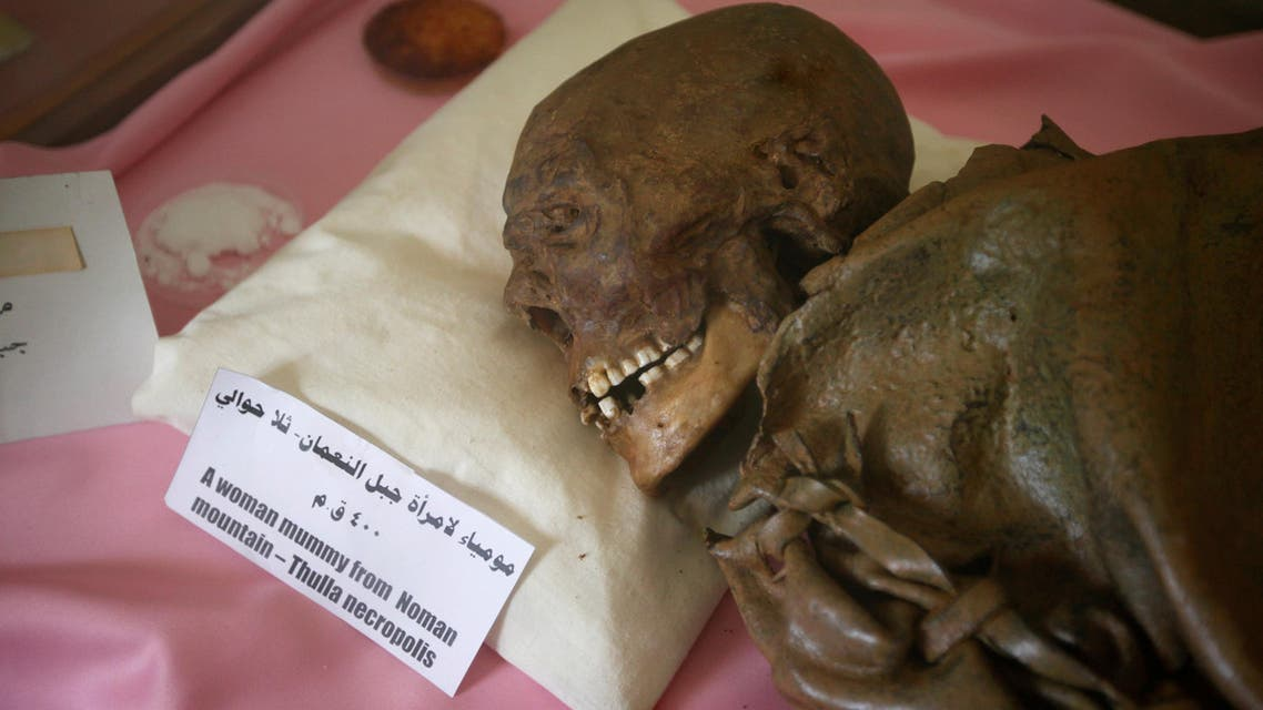 A mummy dating back to an ancient Yemen era is seen at a museum at Sanaa University, in Sanaa, Yemen April 29, 2017. (Reuters)