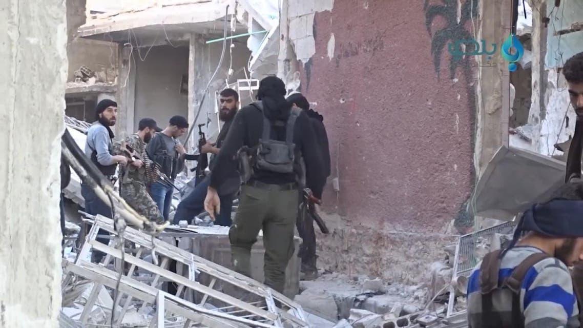 THUMBNAIL_ المعارك بين فصائل معارضة في غوطة دمشق مستمرة والحصيلة أكثر من مئة قتيل