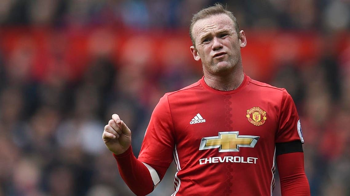 Manchester United's English striker Wayne Rooney reacts to the referee during the English Premier League football match between Manchester United and Swansea City at Old Trafford in Manchester, north west England, on April 30, 2017. (AFP)