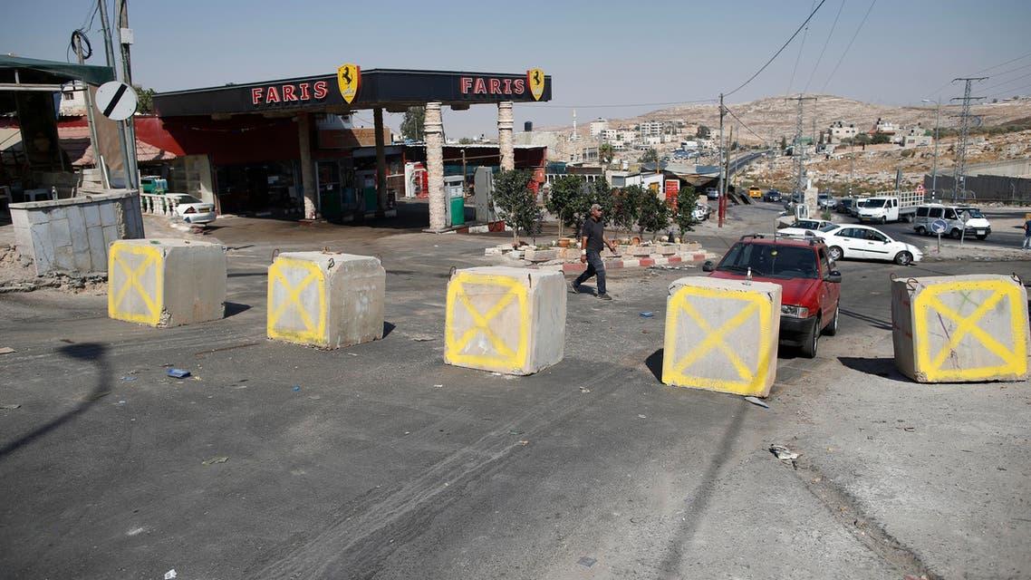 قرب حاجز حزما في الضفة الغربية