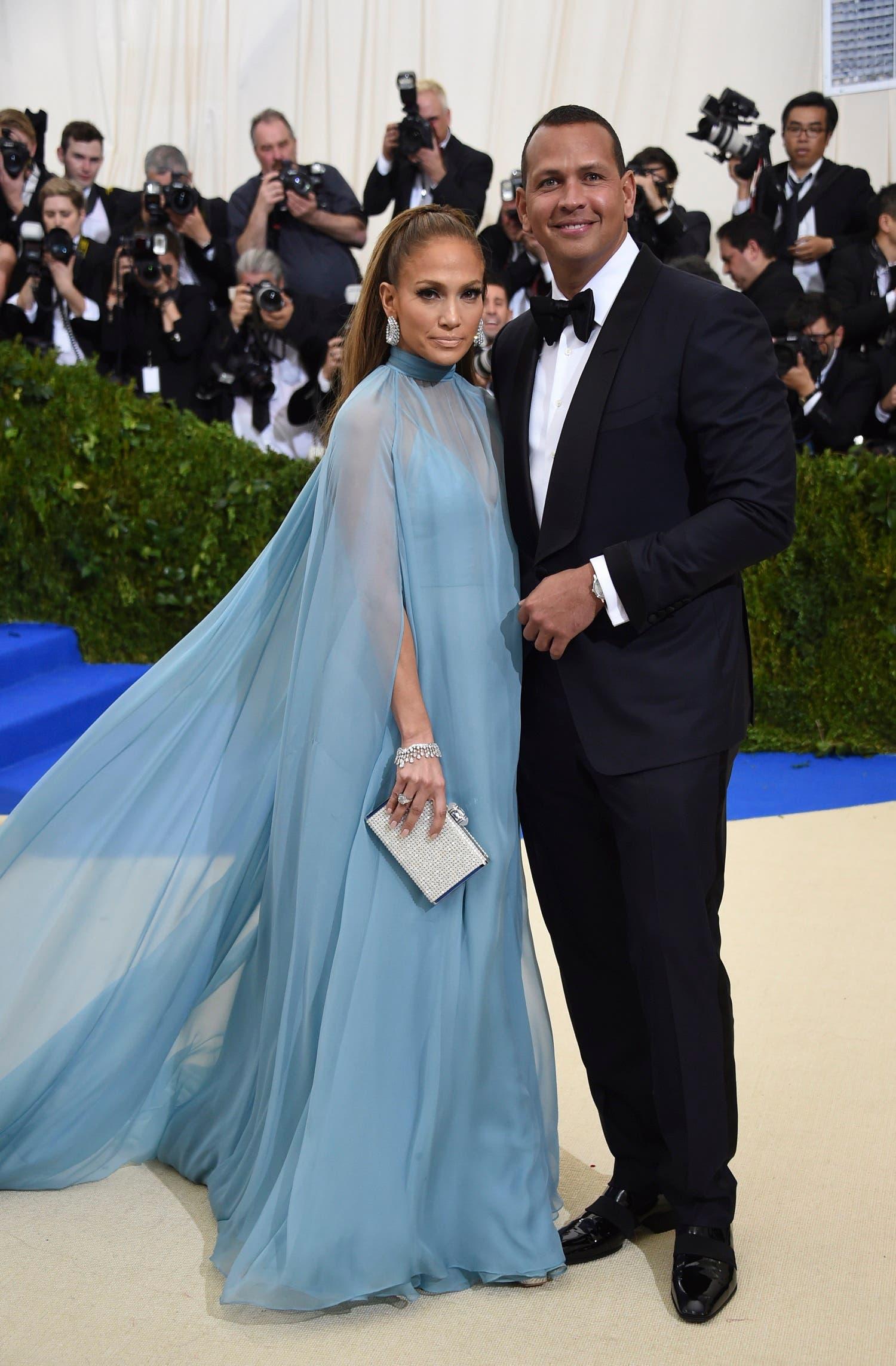 Jennifer Lopez, left, and Alex Rodriguez (AP)