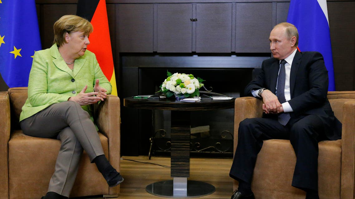 بوتين - ميركل 3