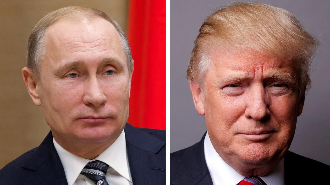 FILE PHOTO: A combination of file photos showing Russian President Vladimir Putin at the Novo-Ogaryovo state residence outside Moscow, Russia, January 15, 2016 and U.S. President Donald Trump posing for a photo in New York City, U.S., May 17, 2016. REUTERS/Ivan