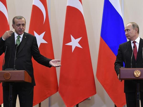 أردوغان: ناقشت مع بوتين على الخريطة منطقة آمنة بسوريا
