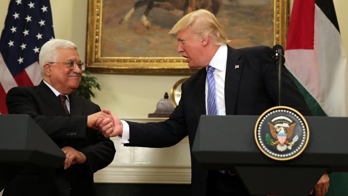 لقاء ترمب عباس في واشنطن 3-5-2017