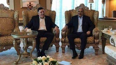 بيان مشترك للسراج وحفتر بعد التوافق في أبوظبي