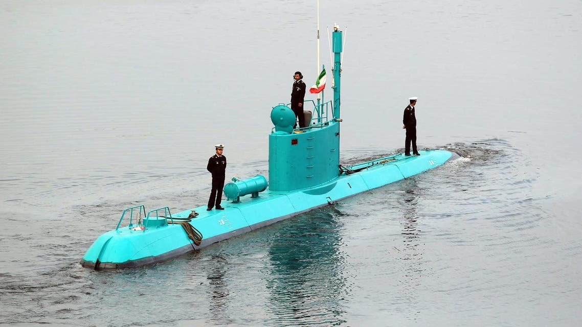 An Iran's newly launched Ghadir submarine moves in the southern port of Bandar Abbas in Persian Gulf, Iran, Wednesday, Nov. 28, 2012. (File photo: AP)
