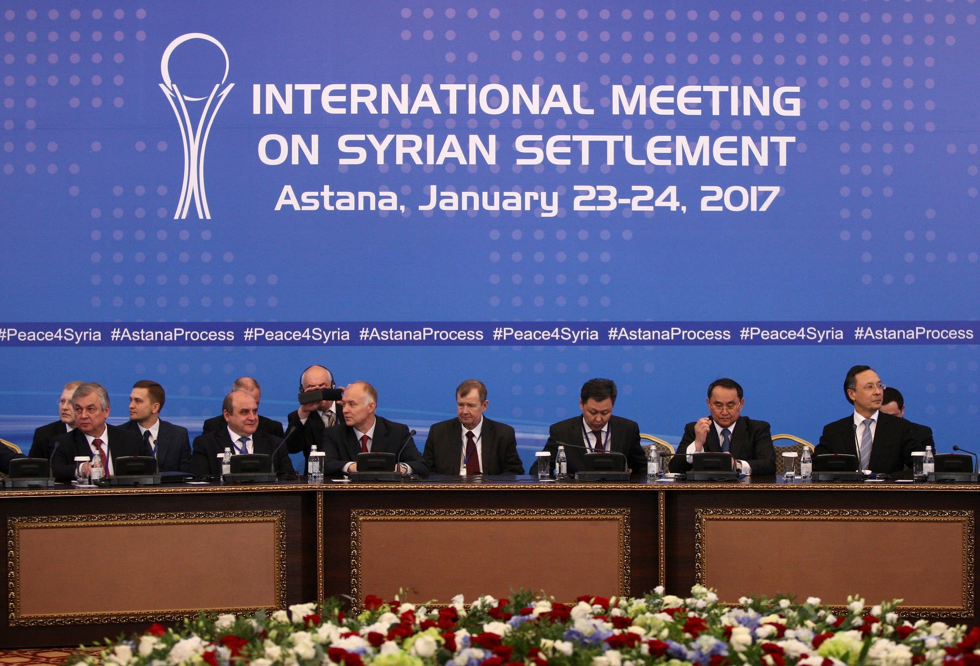 Participants of Syria peace talks attend a meeting in Astana, Kazakhstan January 23, 2017. REUTERS