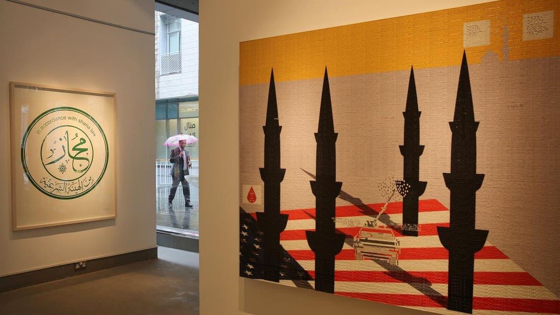 The kingdom's modern art scene has become a platform for Saudi artists. (AP)