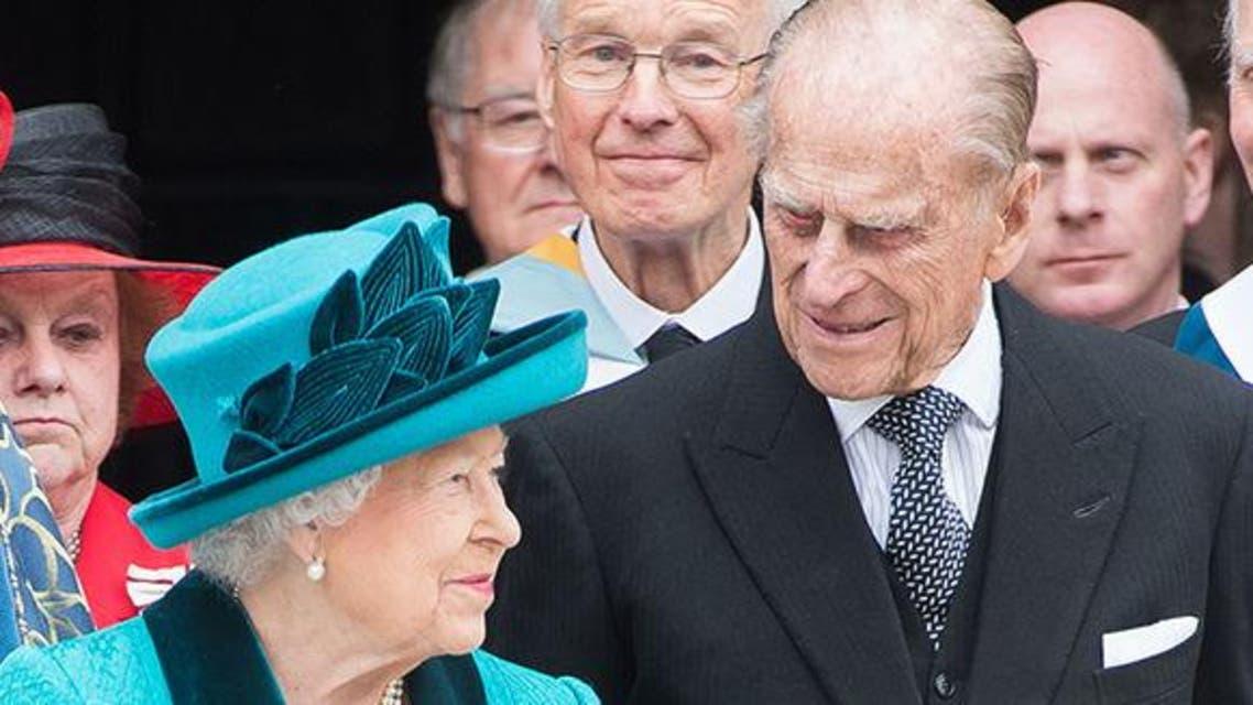 الملكة اليزابث وزوجها الأمير فيليب