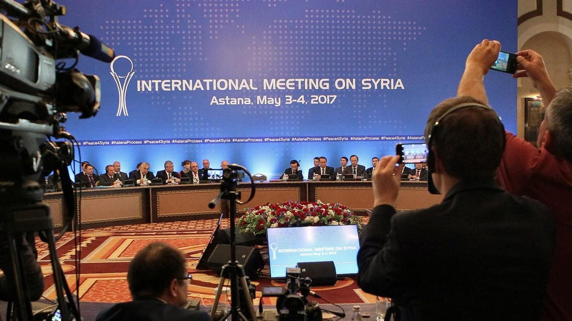 Participants of Syria peace talks attend a meeting in Astana, Kazakhstan. (File Photo: AFP)