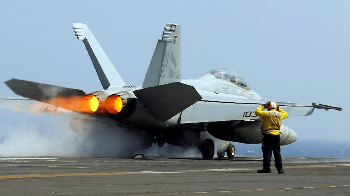 A U.S. Navy F18 fighter jet takes off from aircraft carrier USS Carl Vinson during a routine exercise. (Reuters)