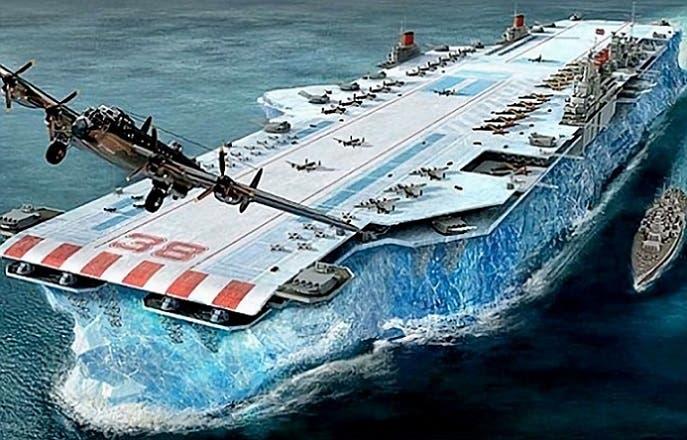 البريطانيون فكروا بصنع حاملة طائرات بأكملها من جبل جليدي ينقلونه من القطب الشمالي