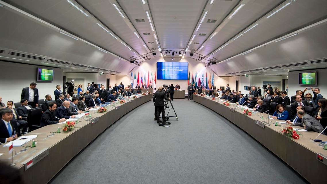 OPEC ministers attend a meeting at the OPEC headquarters in Vienna, Austria on November 30, 2016. (AFP)
