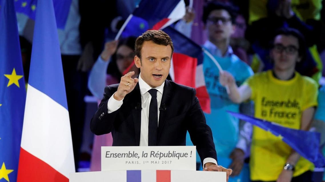 Emmanuel Macron, head of the political movement En Marche !, or Onwards !, and candidate for the 2017 presidential election, attends a campaign rally in Paris. (Reuters)