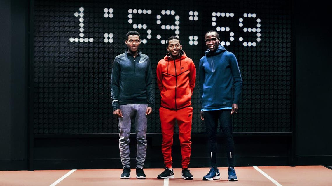 Nike worked with Eliud Kipchoge, Lelisa Desisa and Zersenay Tadese on the project to prove a marathon could be finished in under two hours. (Nike)