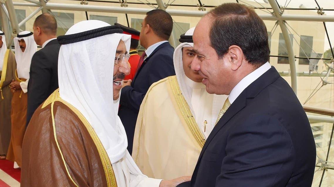 مصر و الكويت السيسي الشيخ صباح الأحمد 3