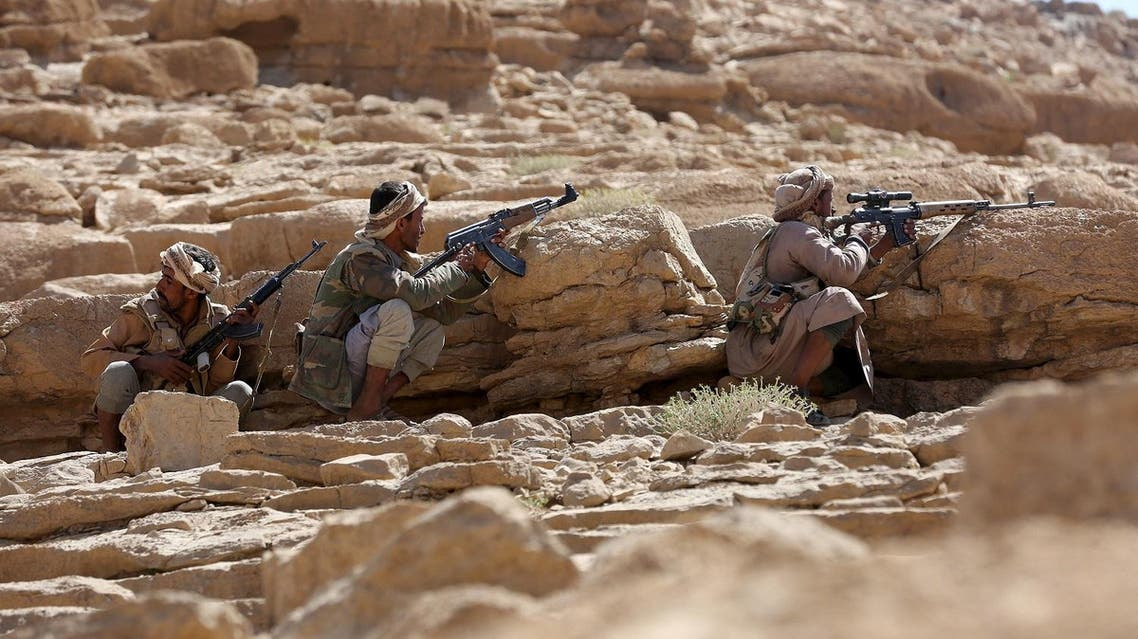 Pro-government tribal fighters take positions as they secure the Furdhat Nihem area after Yemen's army took it from Houthi militants near the capital Sanaa February 3, 2016. REUTERS/Ali Owidha