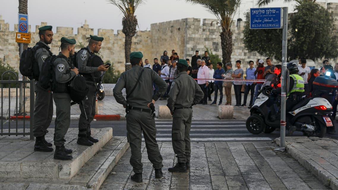 موقع مقتل فلسطينية في باب العامود 7-5-2017