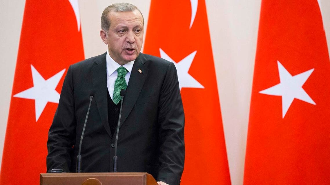 Turkish President Erdogan attends a news conference in Sochi. (Reuters)