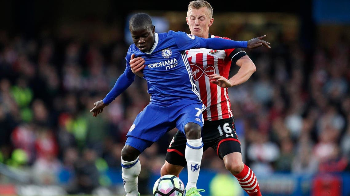 Chelsea's N'Golo Kante in action with Southampton's James Ward-Prowse Action. (File Photo: Reuters)