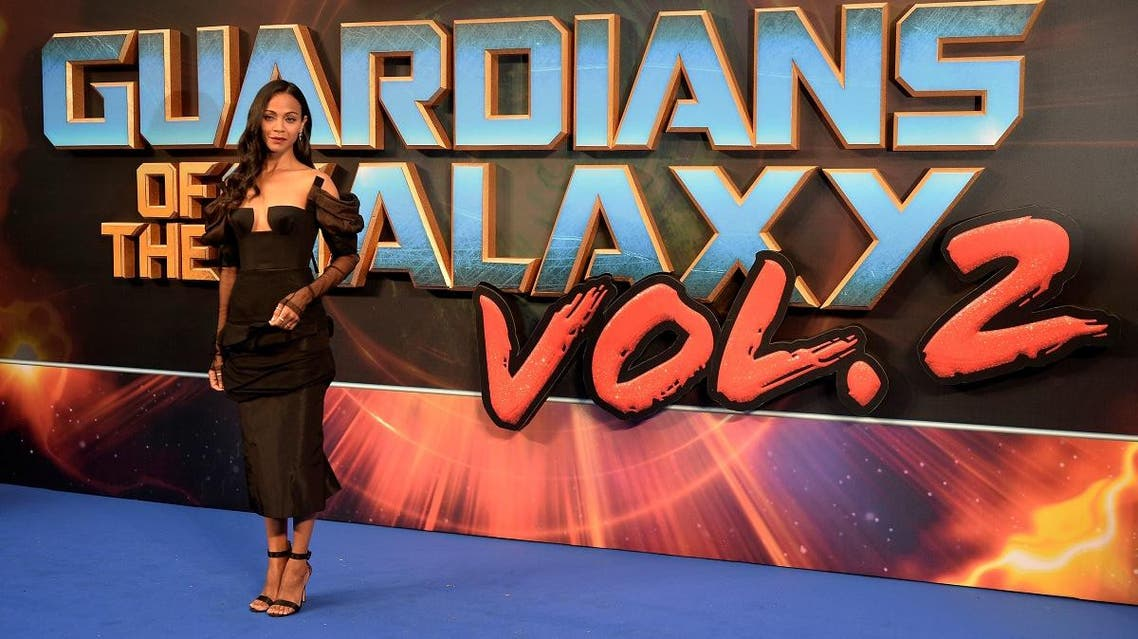 """Actor Zoe Saldana attends a premiere of the film """"Guardians of the galaxy, Vol. 2"""" in London. (Reuters)"""