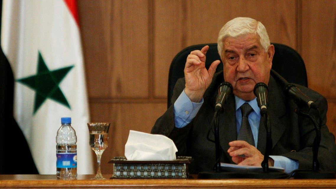 photo of Walid al-Moualem from reuters