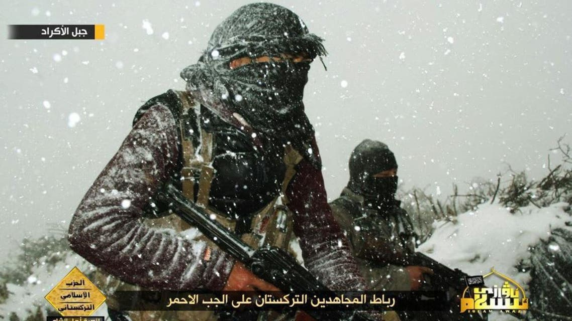 Photos have emerged since last October purporting to show the Uighur militants fighting in Syria. (Photo: Twitter)