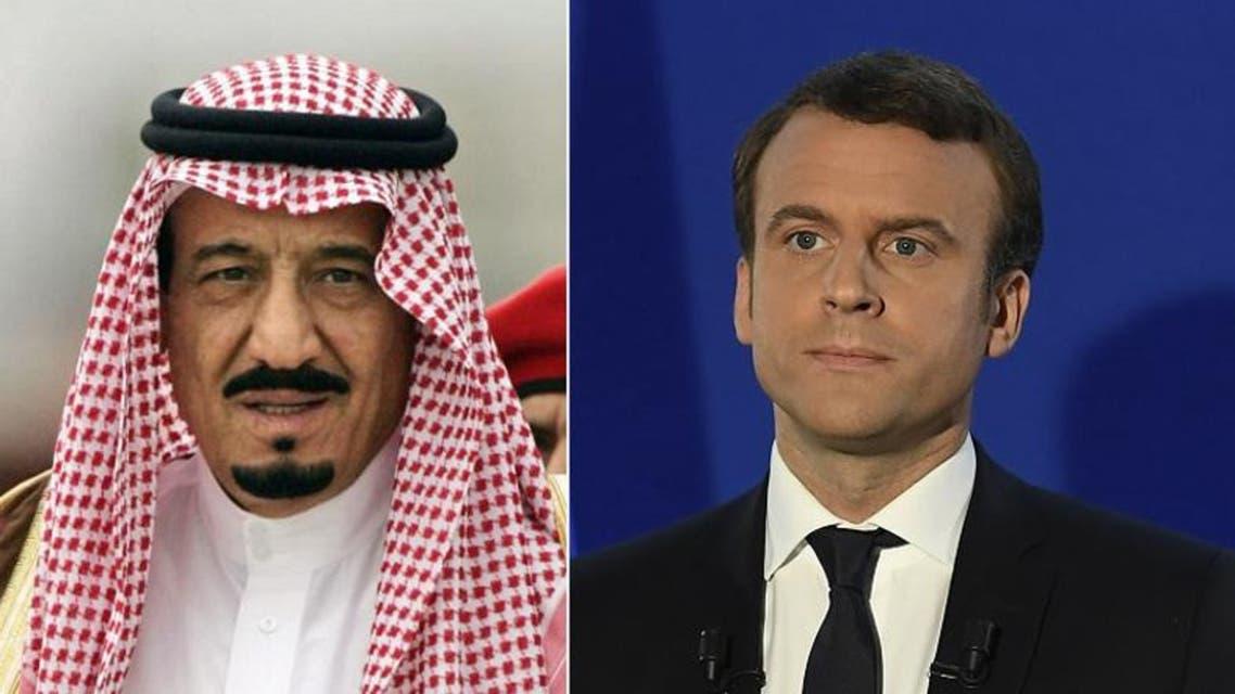 Saudi King Salman congratulates Emmanuel Macron on French presidential win. (SPA/Reuters)