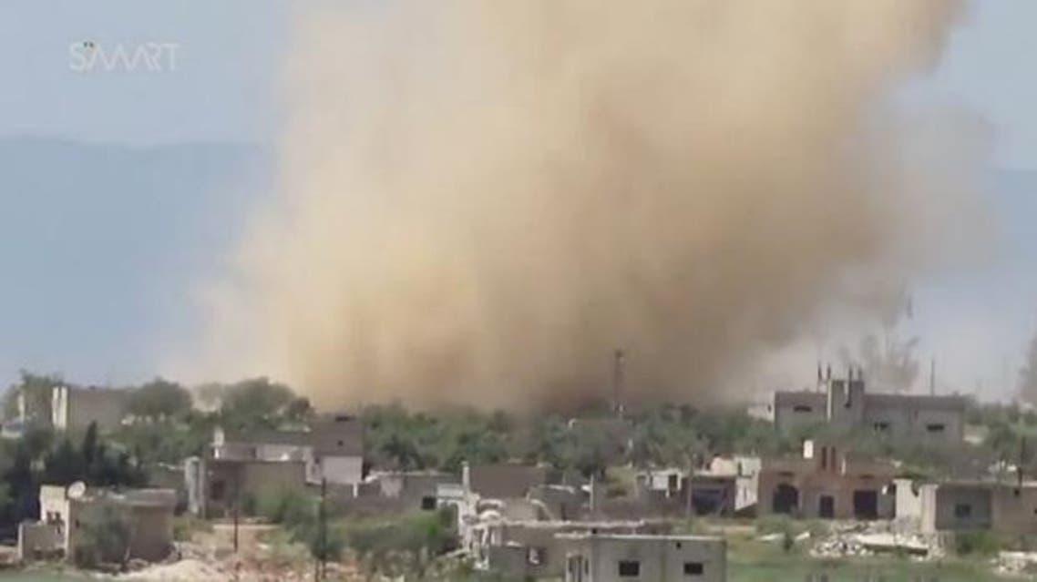 قصف قرب حماة الثلاثاء